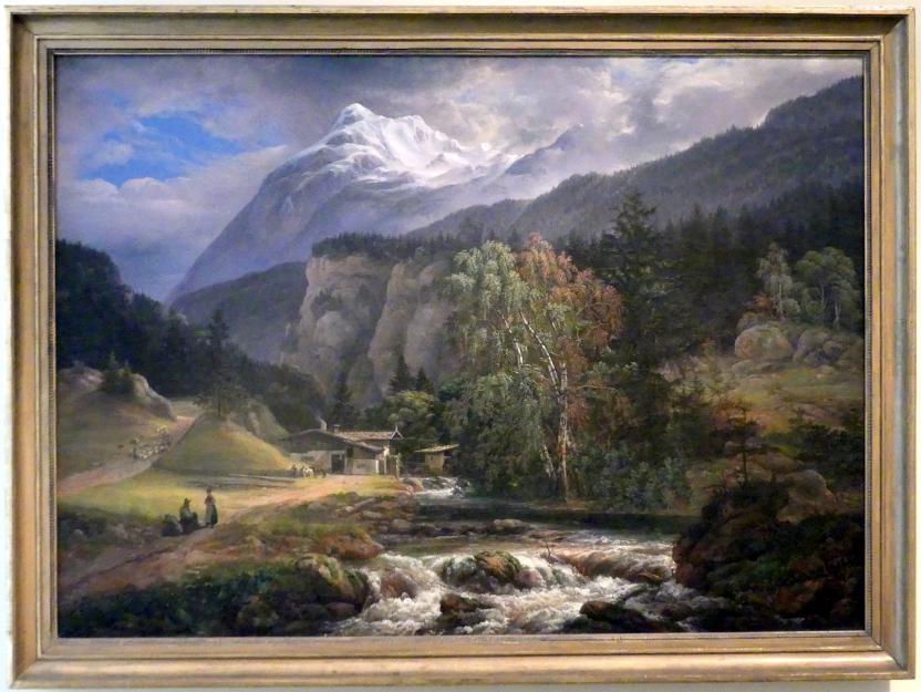 Johan Christian Clausen Dahl: Alpenlandschaft, 1821