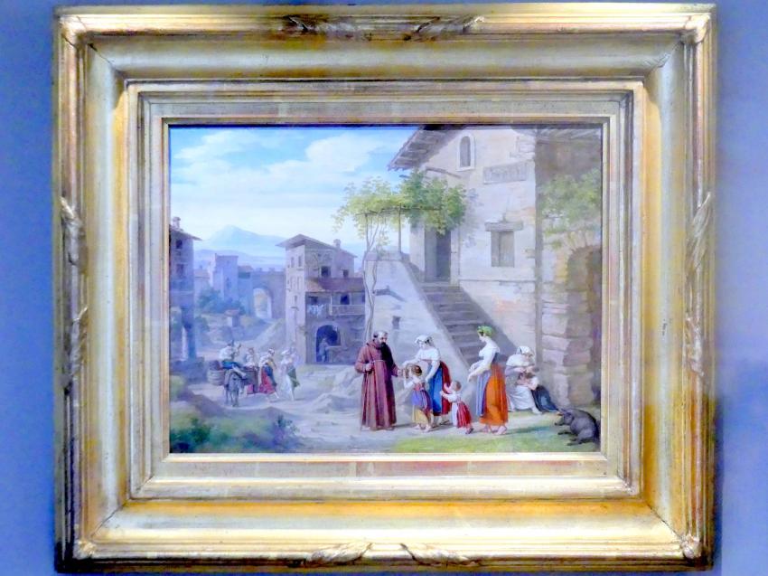 Dietrich Wilhelm Lindau: Italienische Dorfstraße, 1826