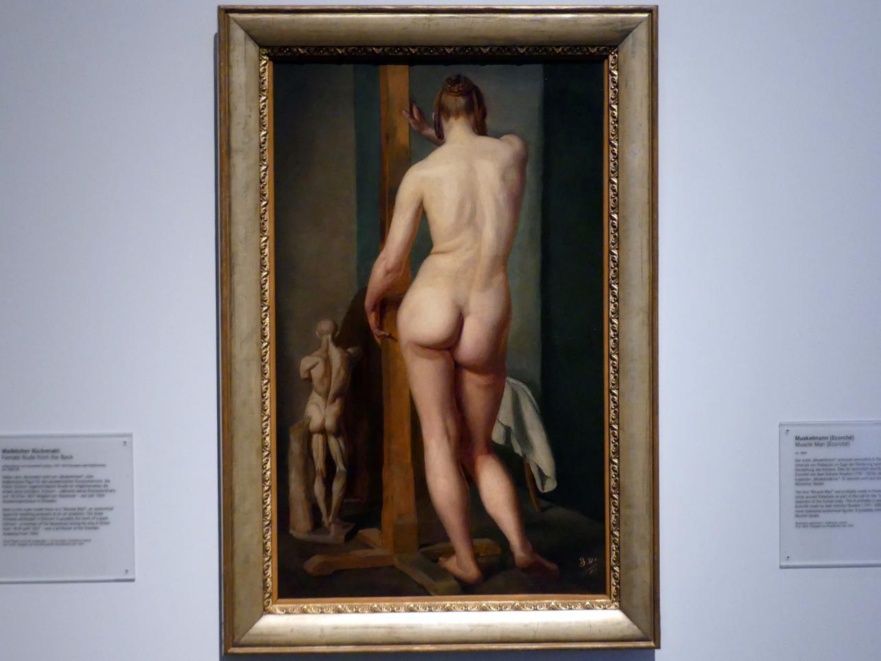 Julius Schnorr von Carolsfeld: Weiblicher Rückenekt, um 1840 - 1850