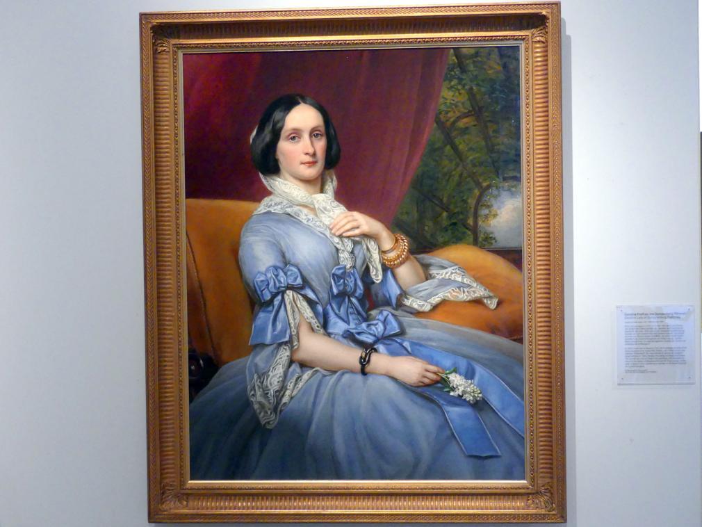 Joseph Karl Stieler: Caroline Freifrau von Gumpenberg Pöttmes, 1856