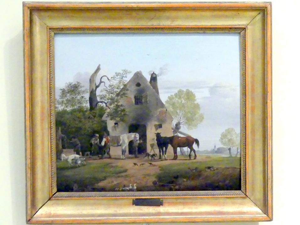 Friedrich Gauermann: Vor der Schmiede, 1828