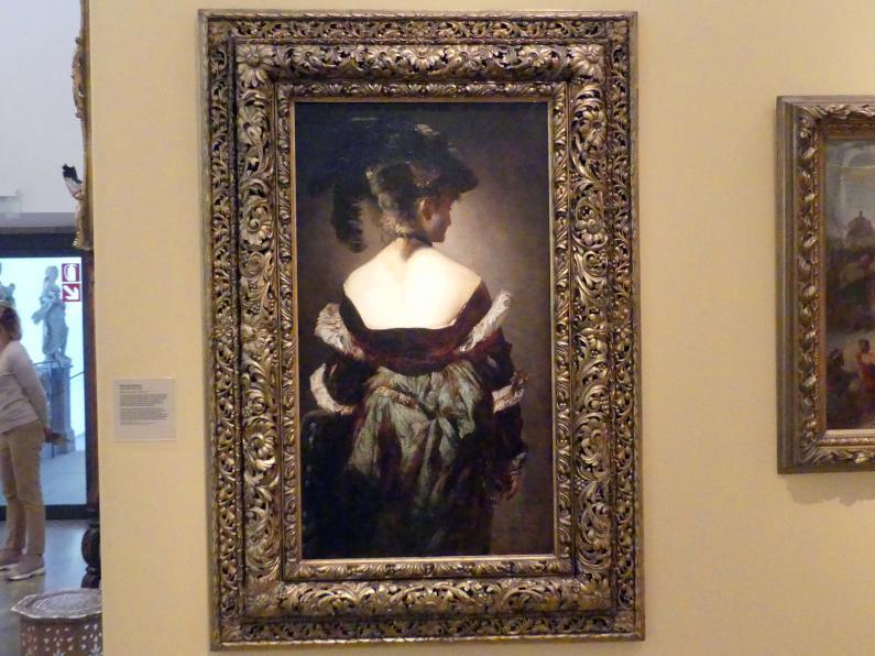 Hans Makart: Dame mit Federhut, um 1875