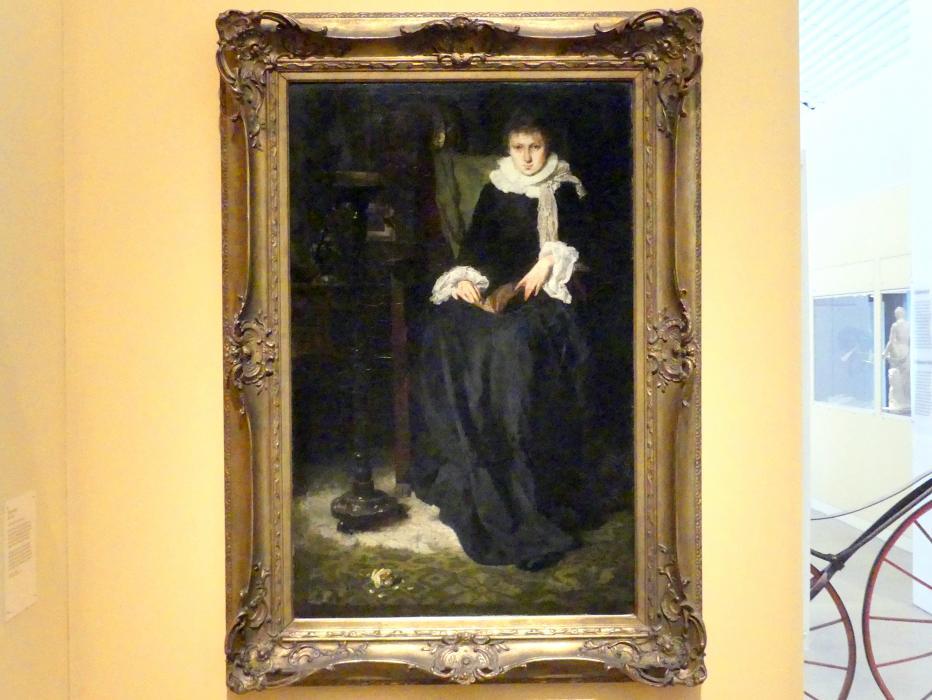 Hugo von Habermann: Schwarze Dame, 1878