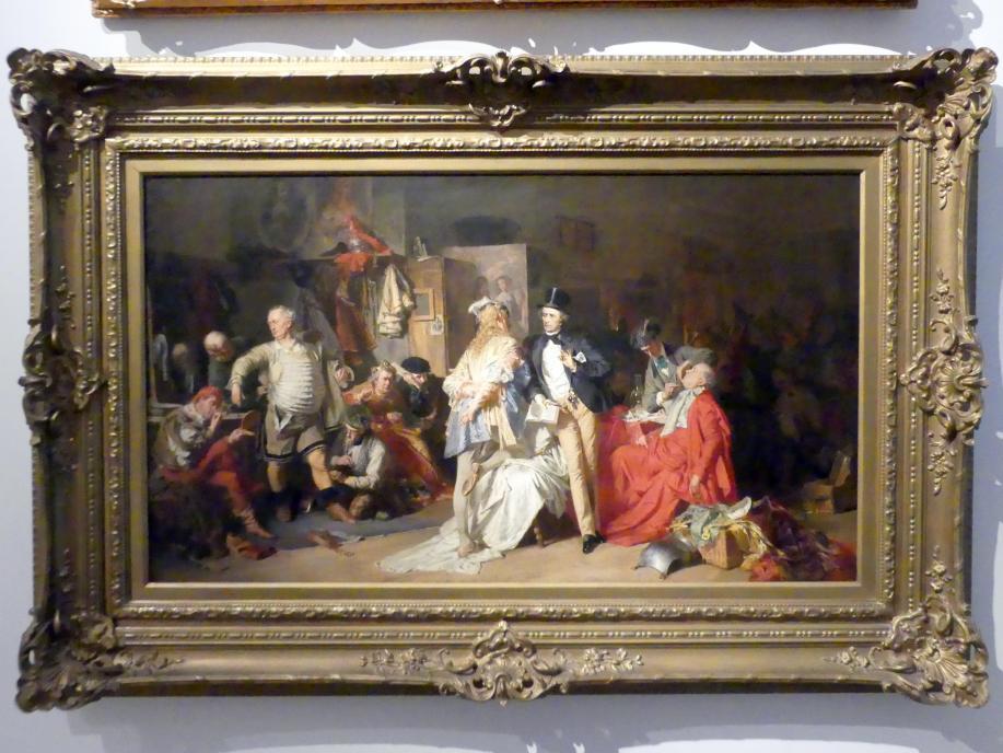 Eduard von Grützner: Hinter den Kulissen, 1870