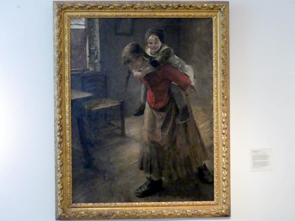 Fritz von Uhde: Die große Schwester, 1883