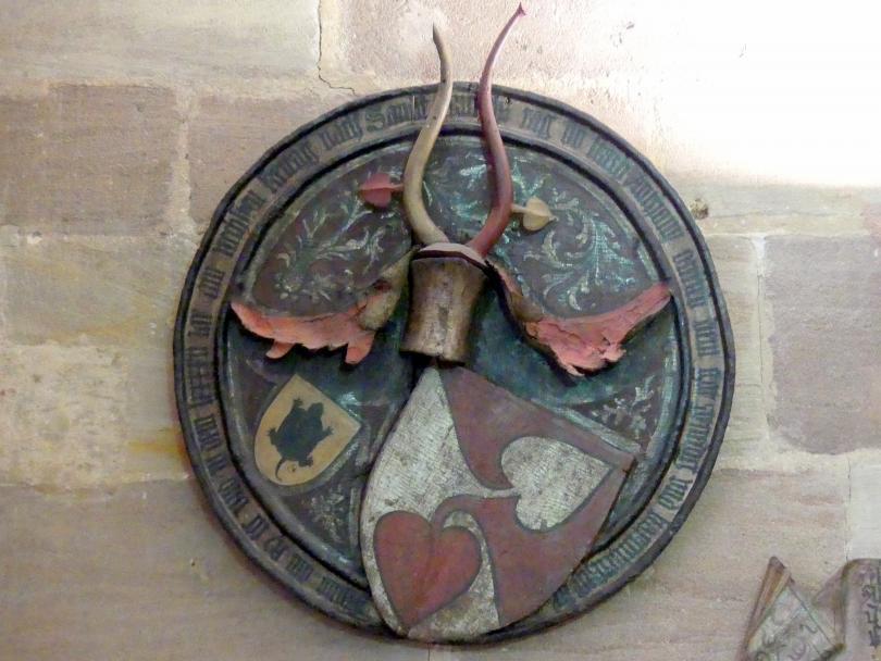 Totenschild von Anton Ortlieb (gest. 1395), Ende 14. Jhd.