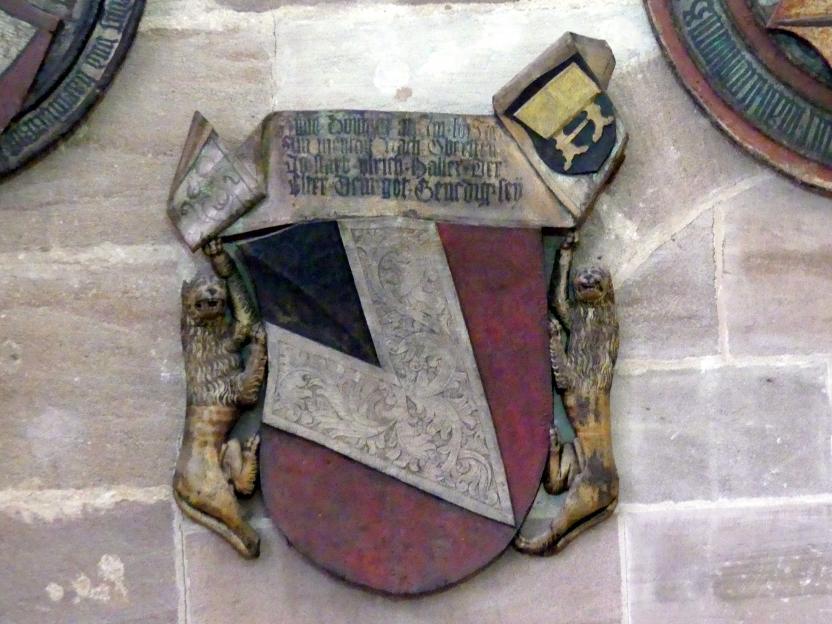 Totenschild des Ulrich IV. Haller (gest. 1456), 3. Viertel 15. Jhd.