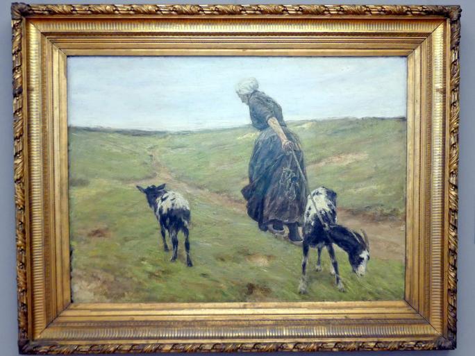 Max Liebermann: Frau mit Geißen in den Dünen, 1890