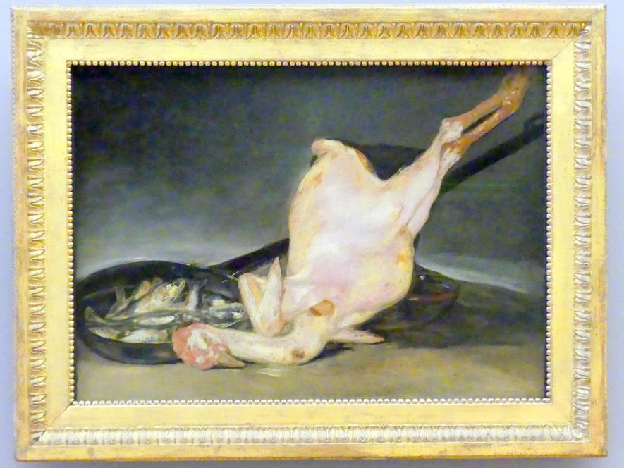 Francisco de Goya (Francisco José de Goya y Lucientes): Die gerupfte Pute, um 1808 - 1812