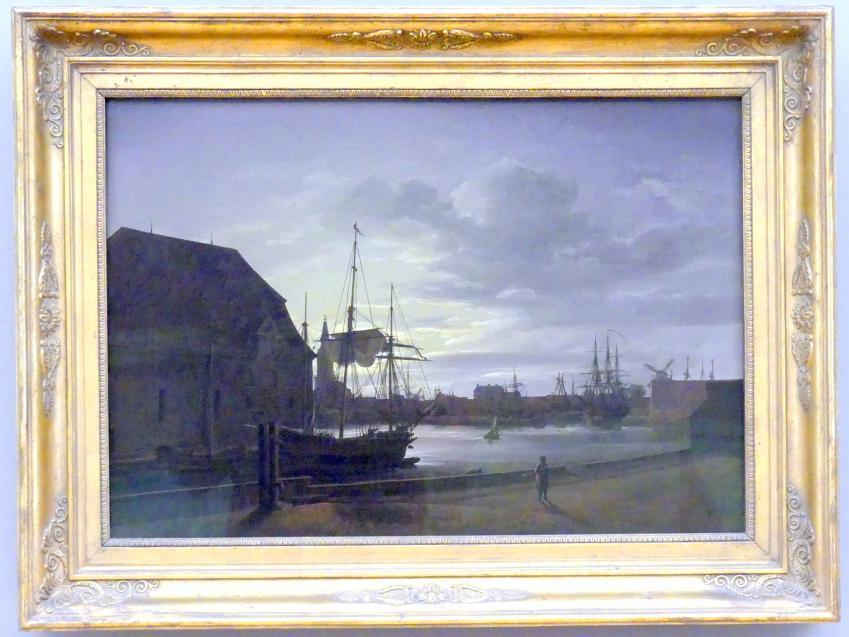 Johan Christian Clausen Dahl: Frederiksholms Kanal in Kopenhagen mit dem Brauhaus Christians IV., 1817