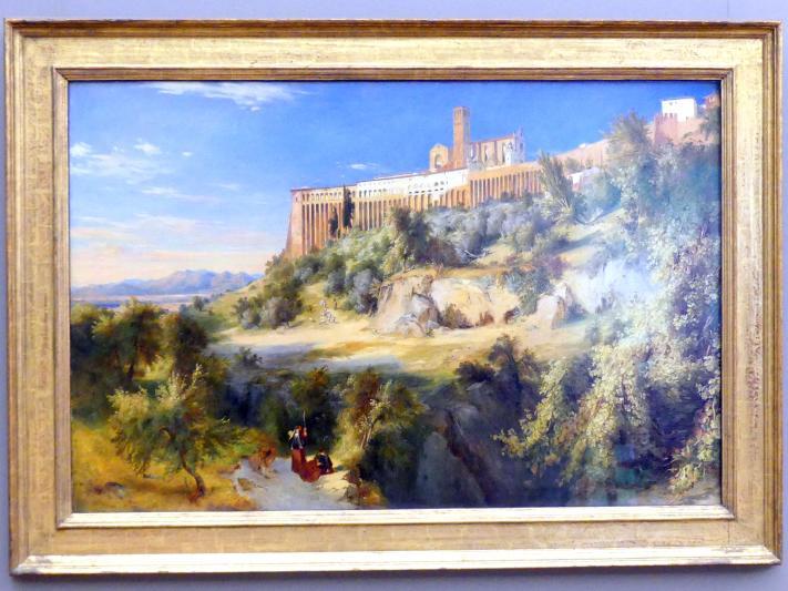 Carl Blechen: Blick auf Assisi, um 1832 - 1835