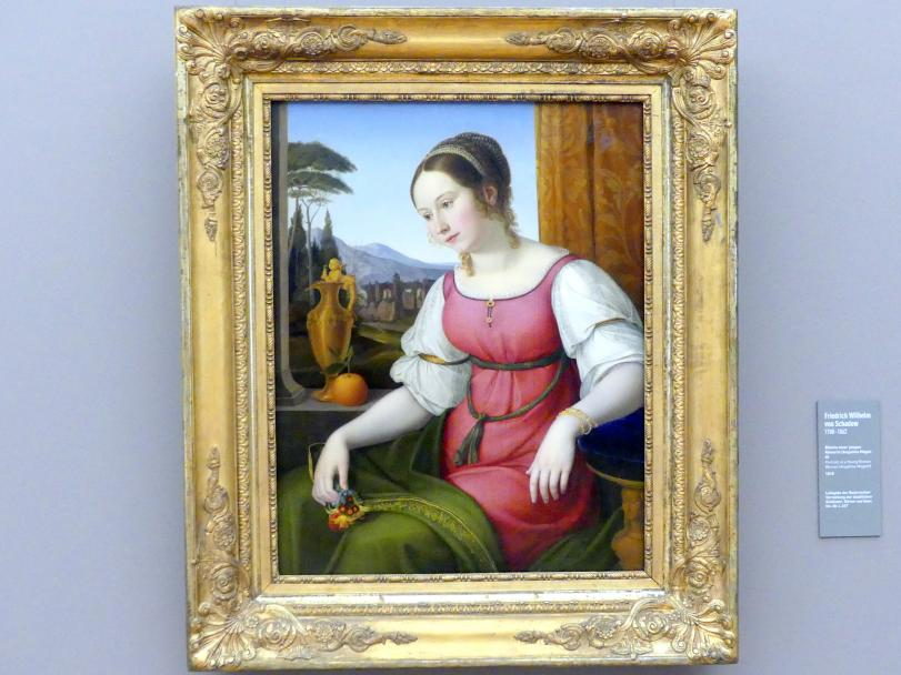 Friedrich Wilhelm von Schadow: Bildnis einer jungen Römerin (Angelina Magatti), 1818