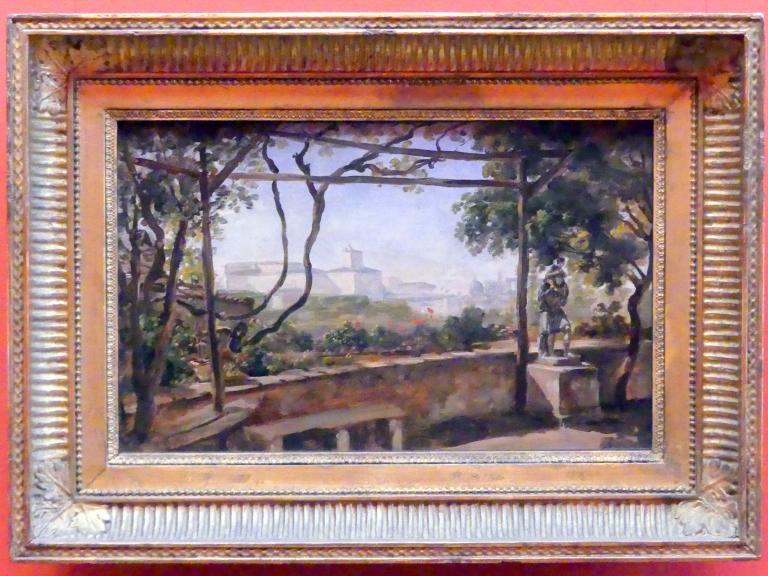 Johann Georg von Dillis: Blick von der Villa Malta in Rom auf den Quirinal, um 1816 - 1820