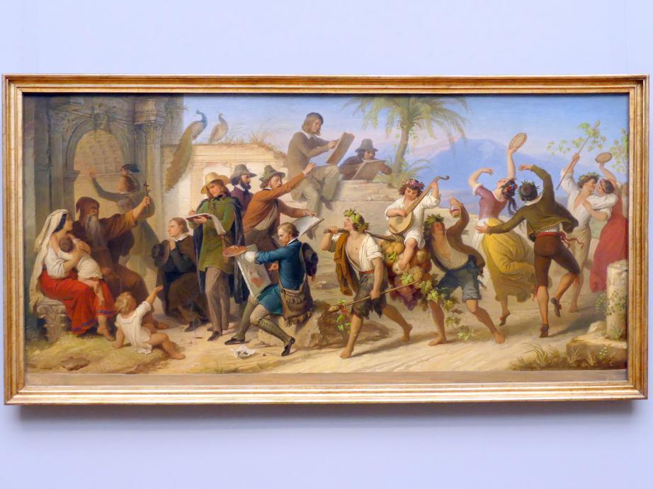 Wilhelm von Kaulbach: Das Studium der deutschen Künstler neuerer Zeit in Rom, um 1848