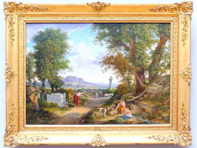 Johann Christian Reinhart: Die Erfindung des korinthischen Kapitells durch Kallimachos, 1846