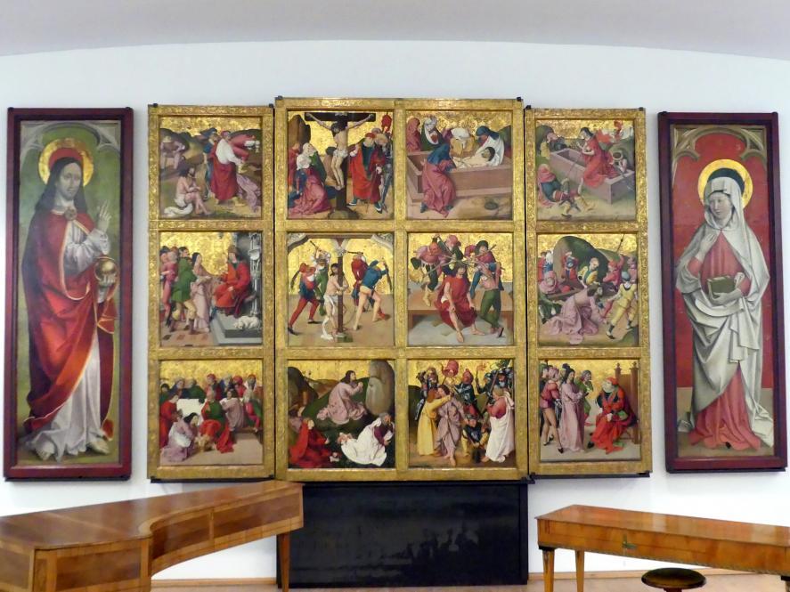 Rueland Frueauf der Ältere: Flügelteile enes Retabels, sog. Passionsaltar, nach 1500