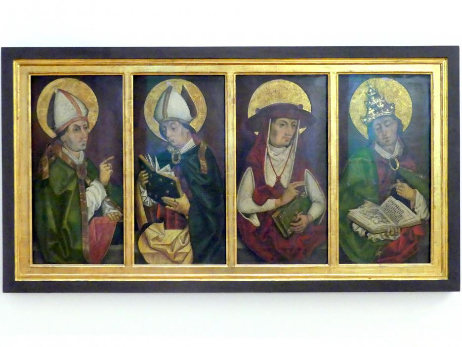 Rueland Frueauf der Ältere: Die vier Kirchenväter, um 1490